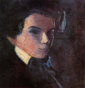 Egon Schiele - Self Portrait, Facing Right