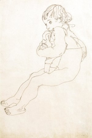 Egon Schiele - Sitting Child