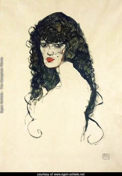 Portrait of a Woman with Black Hair