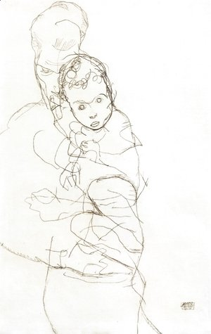 Egon Schiele - Mother and Child III