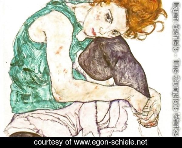Egon Schiele - The Artists Wife