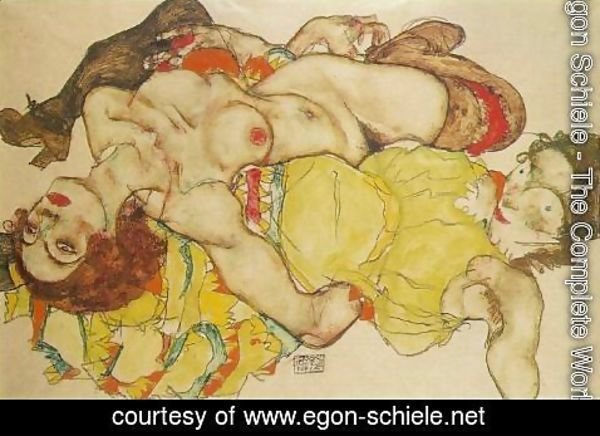 Egon Schiele - Two Women