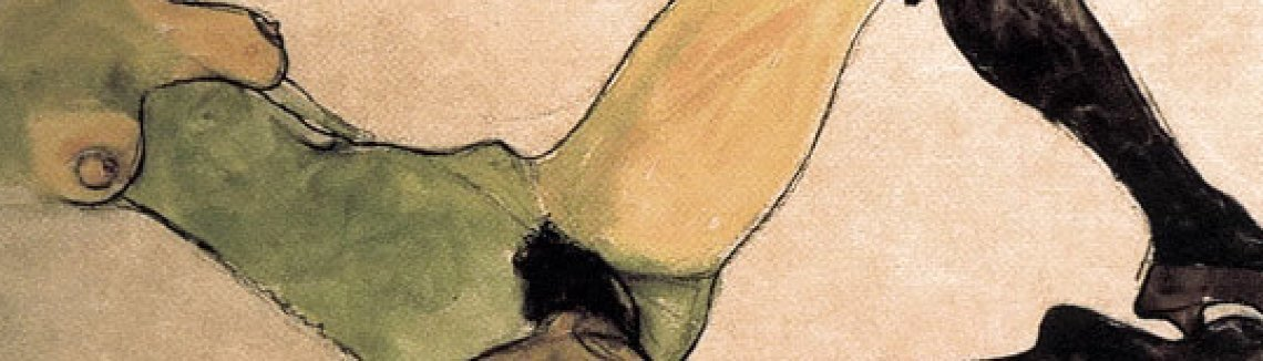 Egon Schiele - A woman nude body