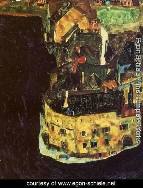 Egon Schiele - City on the Blue River II