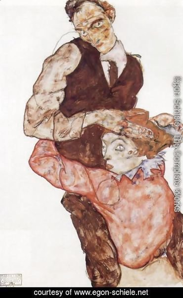 Egon Schiele - Courting couple 2