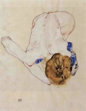 Egon Schiele - Forwards bent feminine act