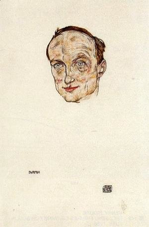 Egon Schiele - Head of Dr. Fritsch
