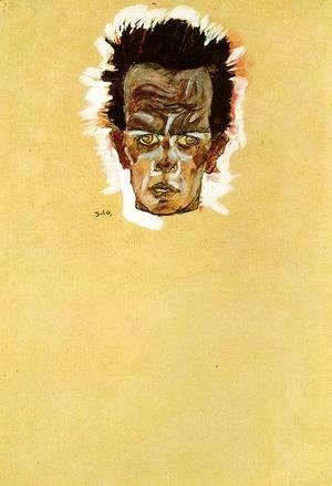 Egon Schiele - Head of a man