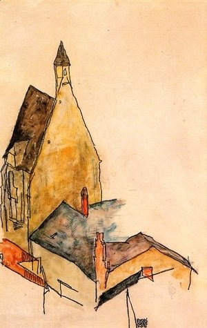 Egon Schiele - Hospital church, Molding
