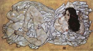 Egon Schiele - Lying woman