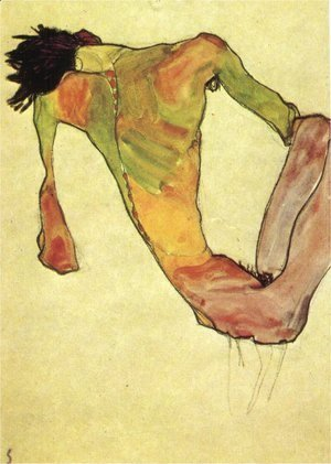 Egon Schiele - Male trunk on 1911