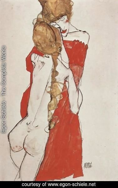Egon Schiele - Mother and daughter