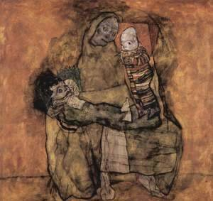 Egon Schiele - Mother with two children 2