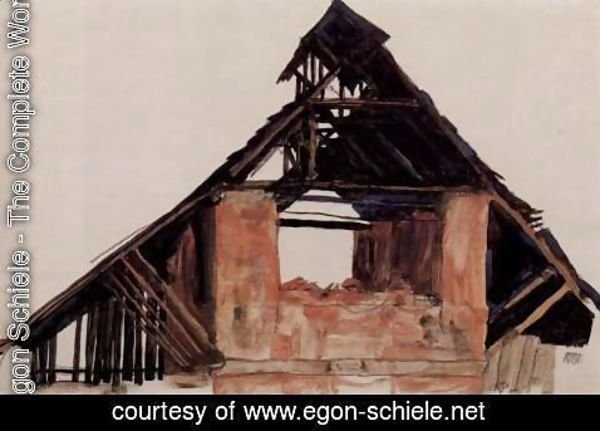 Egon Schiele - Old Gable
