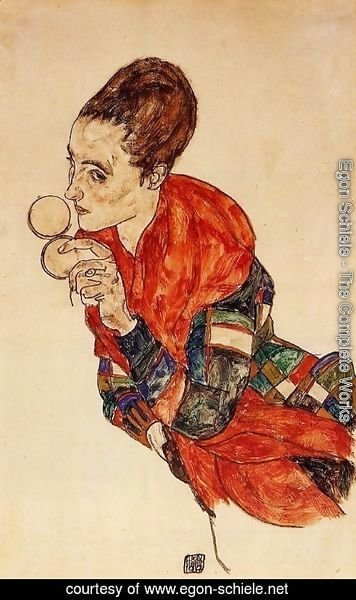 Egon Schiele - Portrait of the Actress Marge Boerner