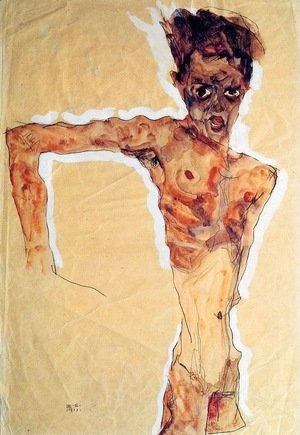 Egon Schiele - Self Portrait 4