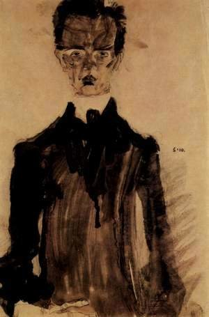 Selfportrait in the black garment