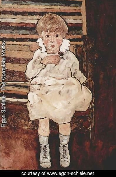 Egon Schiele - Sitting child 2