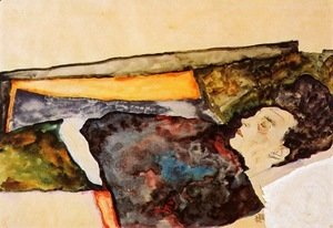Egon Schiele - The Artist's Mother, Sleeping