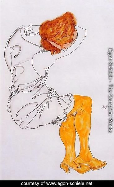 Egon Schiele - The Sleeping girl