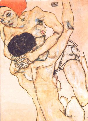 Egon Schiele - Two young girls