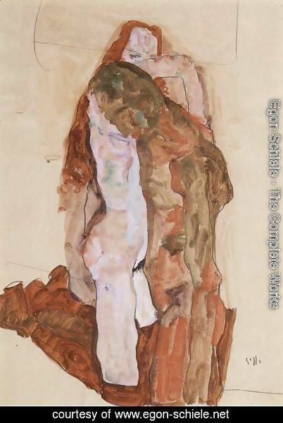 Egon Schiele - Woman and Man (Alternately, Husband and Wife)