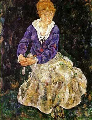 Egon Schiele - Portrait of the Artist Wife Seated 1918