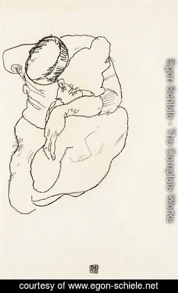 Egon Schiele - Mann Und Frau Umarmend (Man And Woman Embracing)