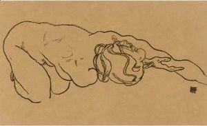 Egon Schiele - Madchen Mit Ausgestrecktem Arm (Girl With Outstretched Arm)