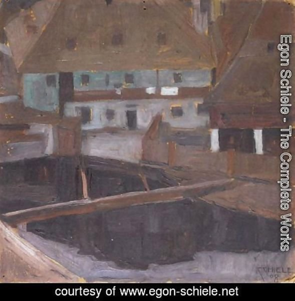 Egon Schiele - Hauser In Krumau (Houses In Krumau)