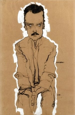 Egon Schiele - Portrait Of Eduard Kosmack, Frontal, With Clasped Hands