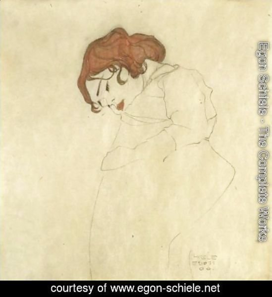 Egon Schiele - Sleeping Girl 2