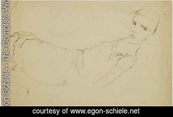 Egon Schiele - Girl On Her Back