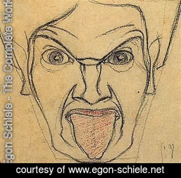 Man With A Protruding Tongue