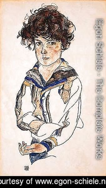 Egon Schiele - Portrait of a boy 2