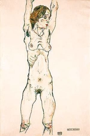 Egon Schiele - Green girl