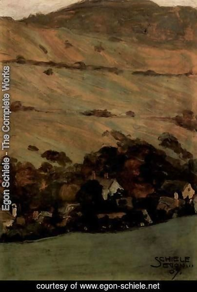 Egon Schiele - Homes from the hillside