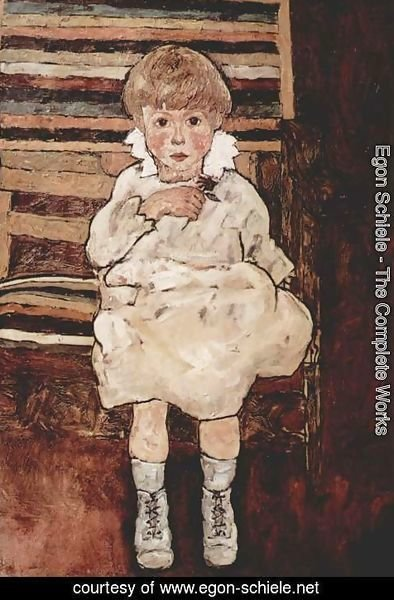 Egon Schiele - Seated Child