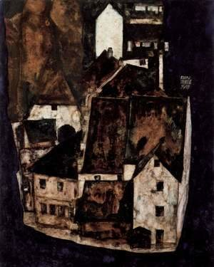 Egon Schiele - Dead city or town at the blue river