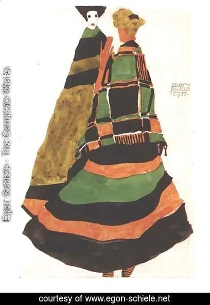 Egon Schiele - Design for a postcard