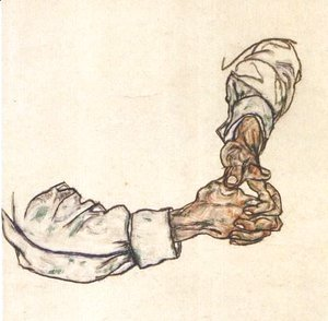 Egon Schiele - Study of hands