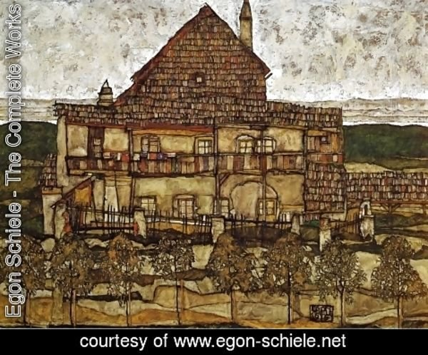 Egon Schiele - House with Shingles