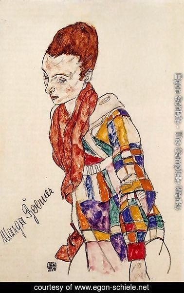 Egon Schiele - Portrait of Marga Boerner