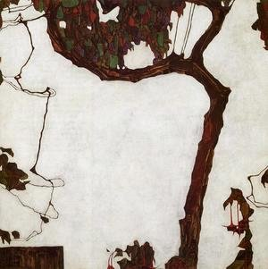 Egon Schiele - Autumn Tree With Fuchsias