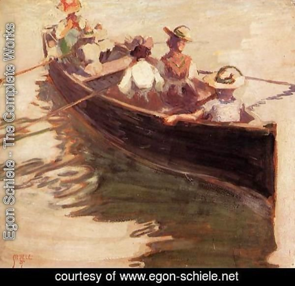 Egon Schiele - Boating