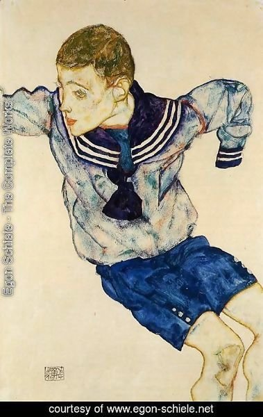 Egon Schiele - Boy In A Sailor Suit