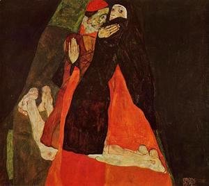 Egon Schiele - Cardinal And Nun Aka Caress