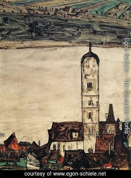 Egon Schiele - Church In Stein On The Danube