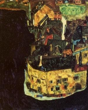 Egon Schiele - City On The Blue River