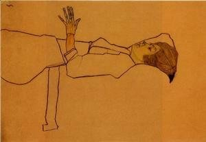 Egon Schiele - Clothed Woman  Reclining